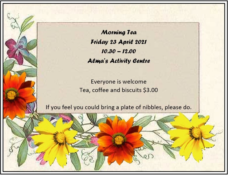u3a morning tea April 2021
